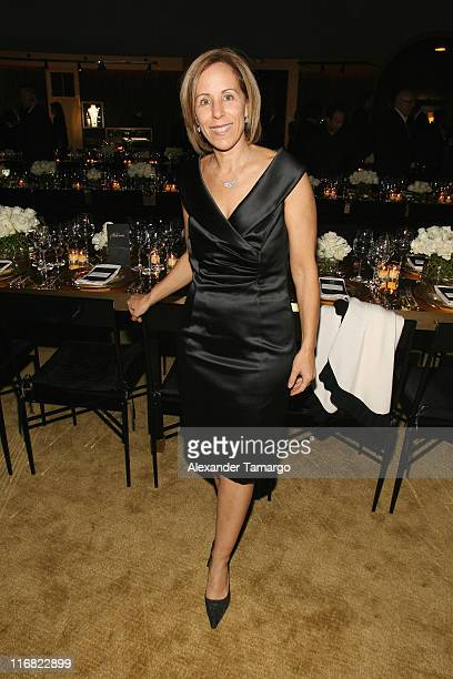 Curator and Executive Director of the Museum of Contemporary Art Bonnie Clearwater attends a private dinner in honor of Anri Sala at the Cartier Dome...