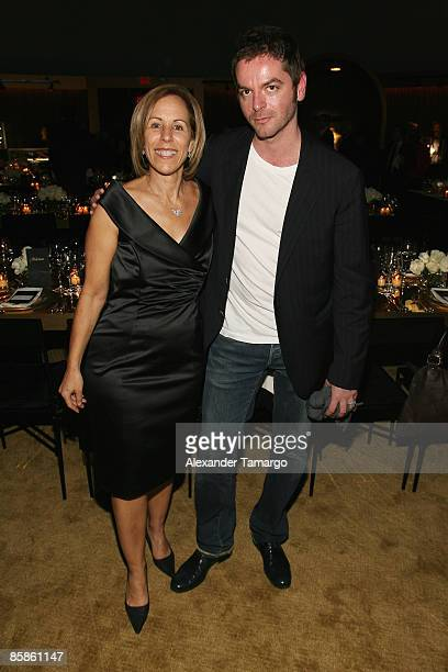 Curator and Executive Director of the Museum of Contemporary Art Bonnie Clearwater and artist Anri Sala attend a private dinner in honor of Anri Sala...