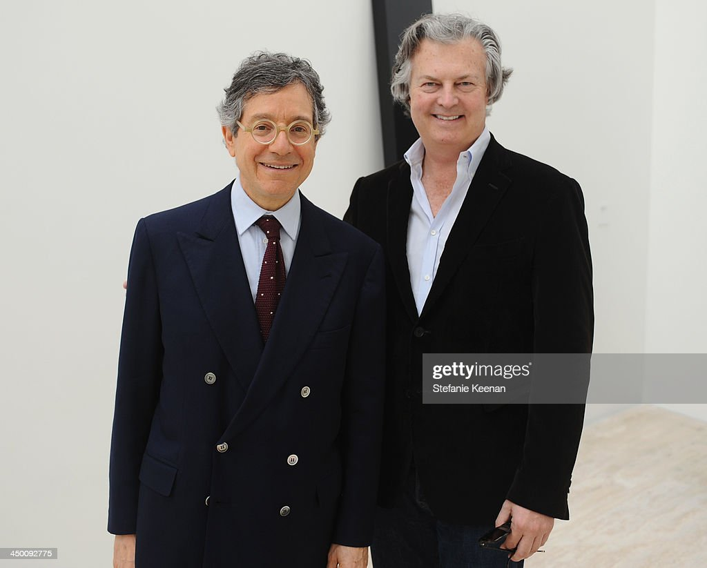 Curator <a gi-track='captionPersonalityLinkClicked' href=/galleries/search?phrase=Jeffrey+Deitch&family=editorial&specificpeople=2928252 ng-click='$event.stopPropagation()'>Jeffrey Deitch</a> and David Johnson attend a private preview at Museo Jumex on November 16, 2013 in Mexico City, Mexico.