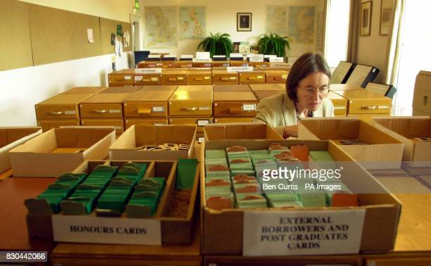 Curator Margaret Humfrey looks through some of the 130000 slides at the School of Art History slide collection a research facility which Prince...