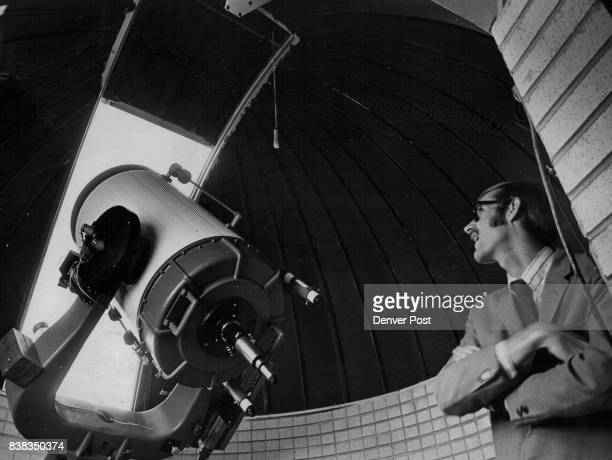 Curator Mark Peterson Displays The Big 22inch Reflecting Telescope at Gates Planetarium The worsening condition of the Denver air has reduced the...