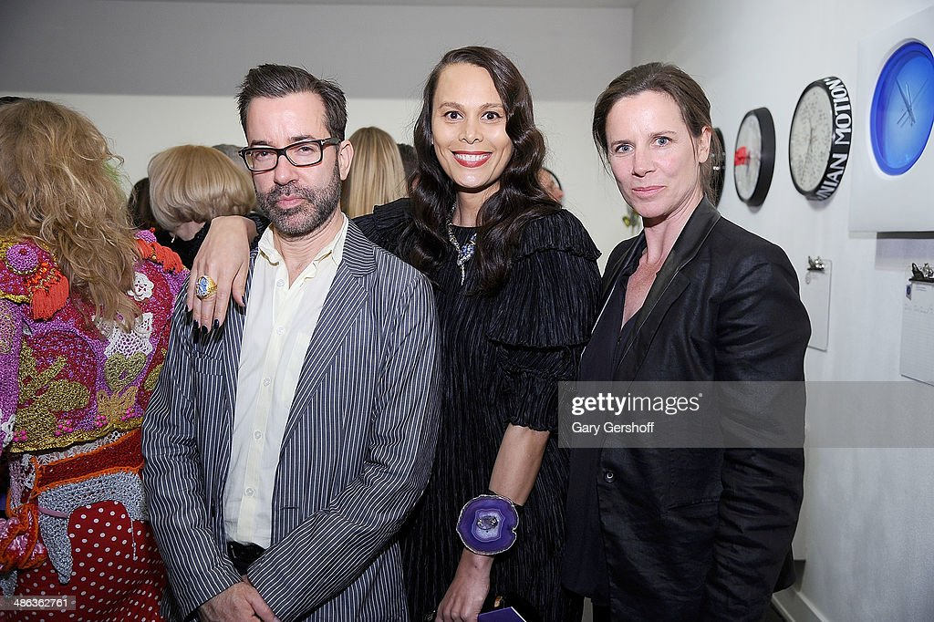 Curator Natalie Kates (C) and artists Robert Melee (L) and Michele Francis attend Housing Works Groundbreaker Awards Dinner at The Metropolitan Pavillion on April 23, 2014 in New York City.