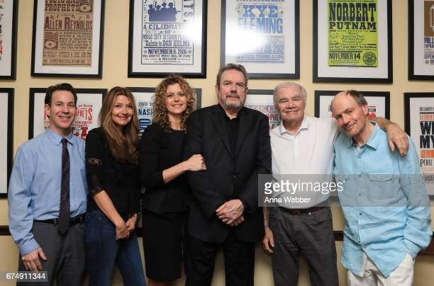 Curator of Country Music Hall of Fame Michael Gray Singer/Songwriter Matraca Berg Laura Savini Jimmy Webb Dickey Lee and Bobby Braddock pose...