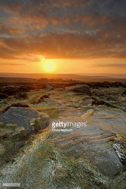 Curbar Edge Sunrise, Peak District National Park, England, UK