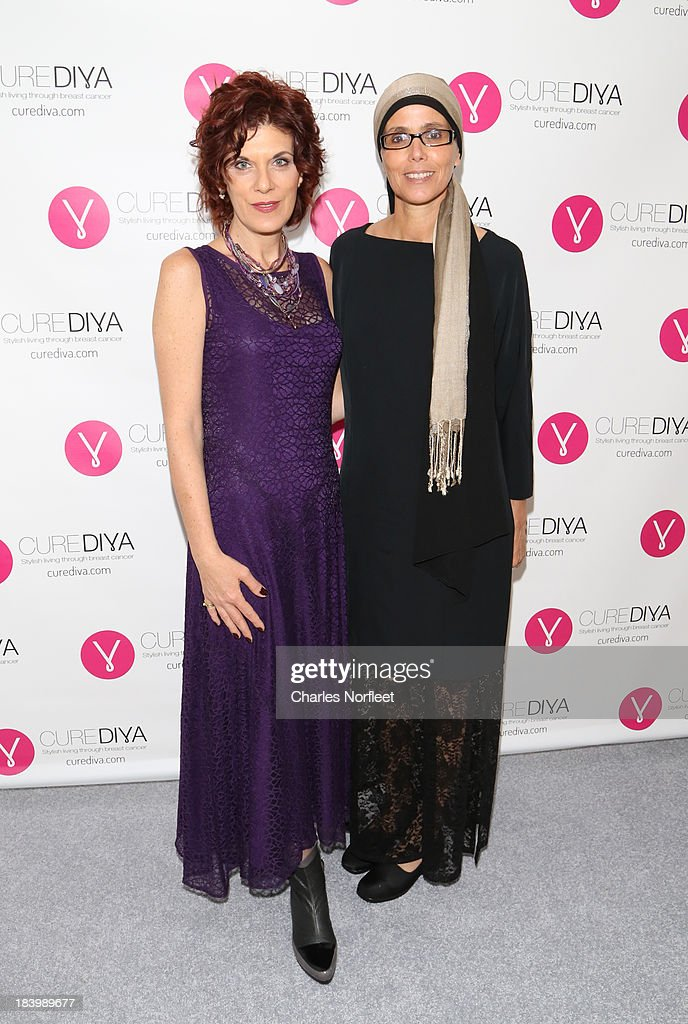 CureDiva.com co-founders and breast cancer survivors Efrat Roman (L) and Estelle Gofer attend Luncheon In Honor Of Breast Cancer Awareness Month at Bryant Park Hotel on October 10, 2013 in New York City.