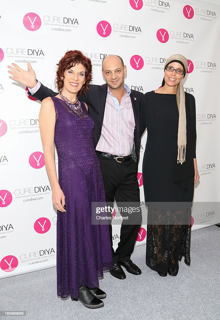 CureDiva.com co-founders Efrat Roman, Don Vigdor and Estelle Gofer attend Luncheon In Honor Of Breast Cancer Awareness Month at Bryant Park Hotel on October 10, 2013 in New York City.