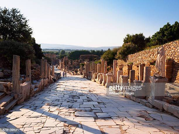Curetes Street in ancient Ephesus in evening light