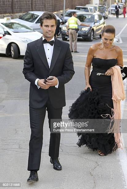 Curi Gallardo and Cuqui Font attend Emiliano Suarez and Carola Baleztena's wedding party on September 9 2016 in Madrid Spain