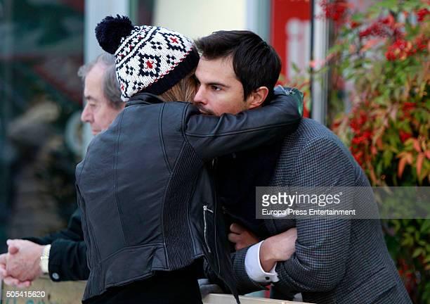 Curi Gallardo and Marta Gonzalez are seen on December 12 2015 in Madrid Spain