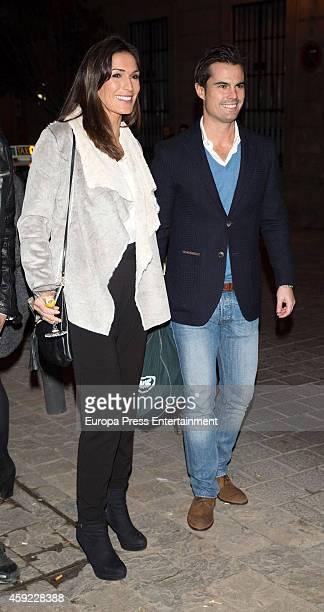 Curi Gallardo and Veronica Hidalgo attend Glint Agency launch party on November 18 2014 in Madrid Spain