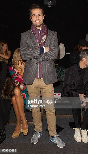 Curi Gallardo attends Maybelline NY BloomersBikini fashion show frontrow at Colon Square on February 10 2016 in Madrid Spain