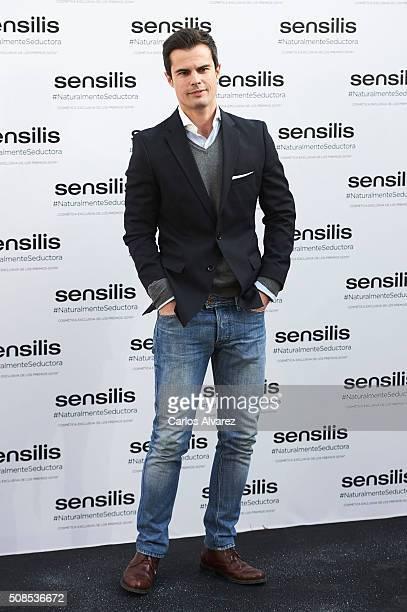 Curi Gallardo attends the new ambassador of 'Sensilis' presentation at the Santa Barbara Palace on February 5 2016 in Madrid Spain