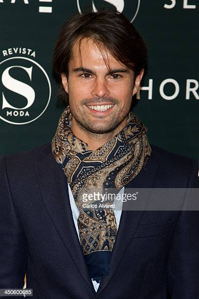 Curi Gallardo attends the SModa magazine party at the Sphora store on November 19 2013 in Madrid Spain