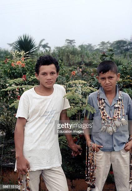 Curio peddler Leticia Colombian Amazon 1970