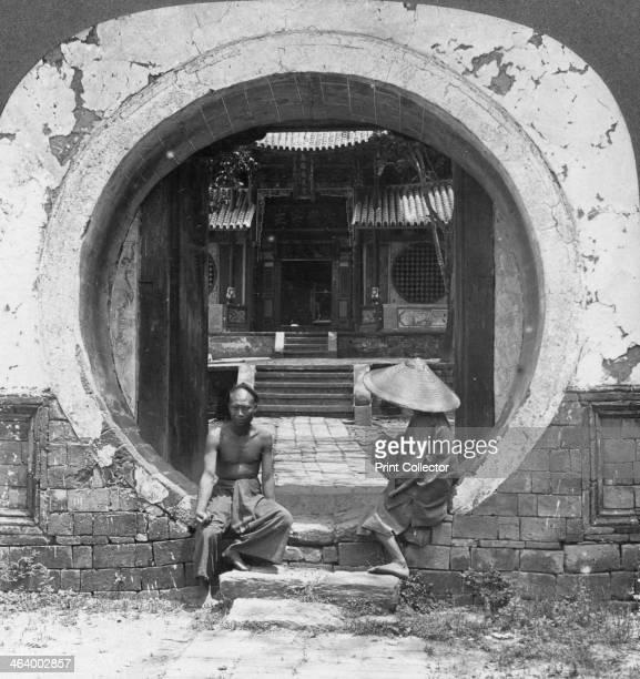 Curious gateway entrance to a joss house Bhamo Burma 1908 A joss house is a temple for the worship of shen deities saints ancestors and supernatural...
