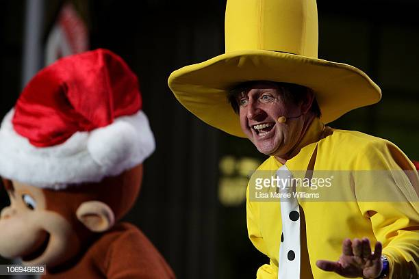 Curious George performs on stage at the City of Sydney Christmas concert and Christmas tree lighting at Martin Place on November 18 2010 in Sydney...