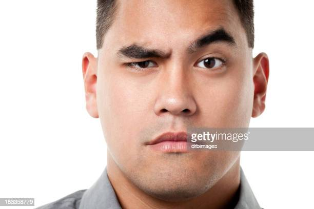 Curious Man Raises Eyebrow