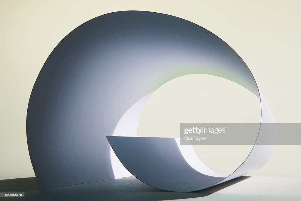 Curled Sheet of Paper : Stock Photo