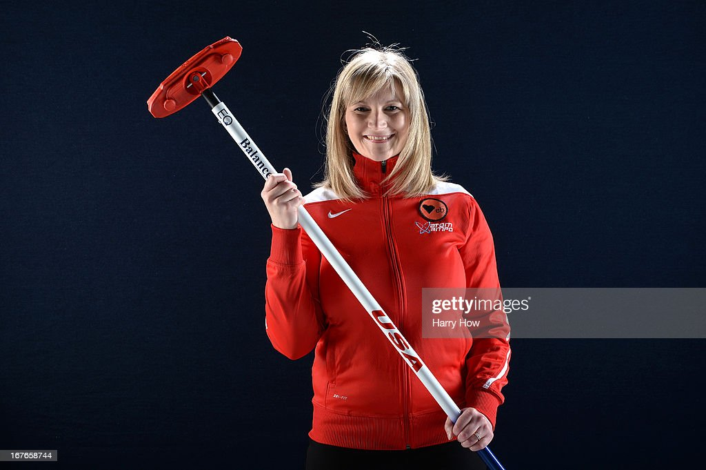 Curler Erika Brown poses for a portrait during the USOC Portrait Shoot on April 26, 2013 in West Hollywood, California.