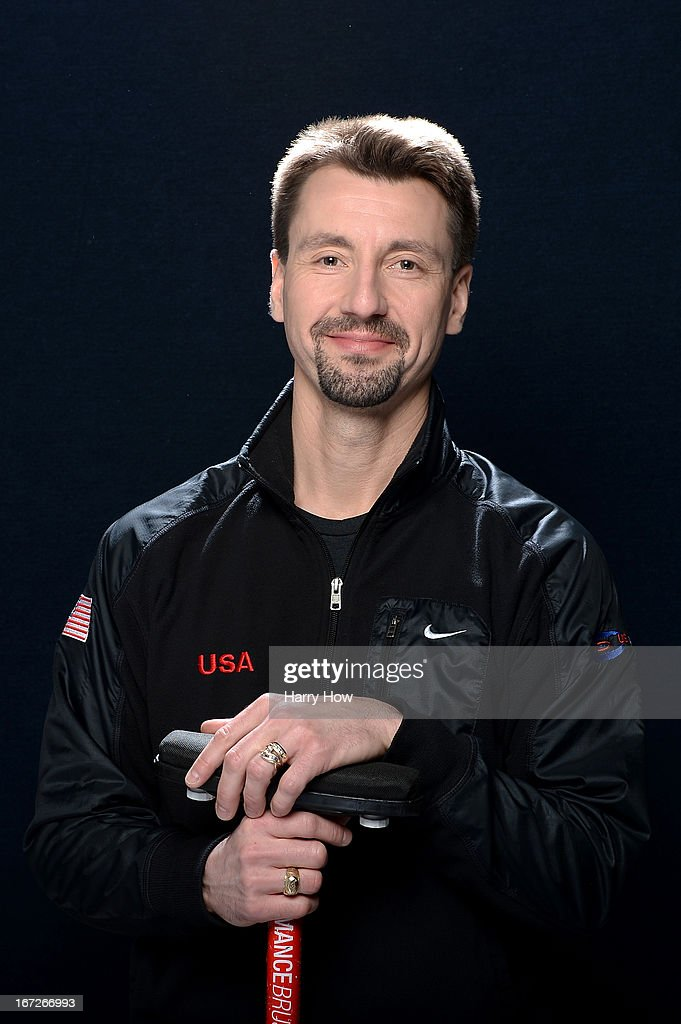Curler Pete Fenson poses for a portrait during the USOC Portrait Shoot on April 23, 2013 in West Hollywood, California.