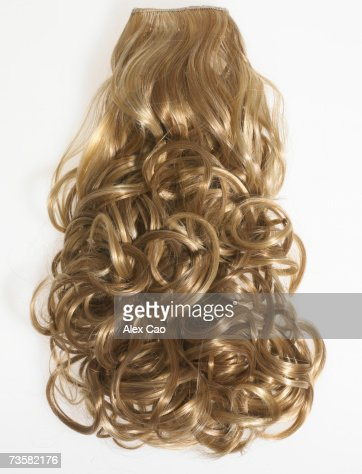 Curly blonde hair extensions Therapy