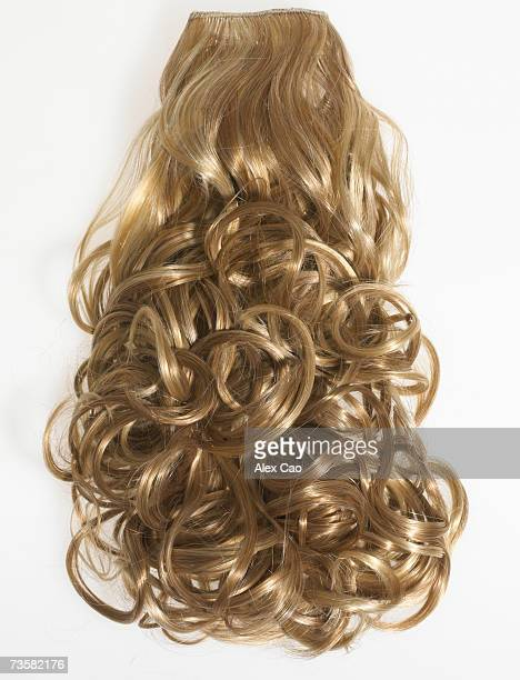 Curly blond hair extension