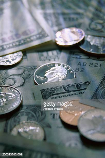 US currency and coins
