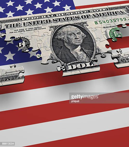 USA Currency Flag Puzzle