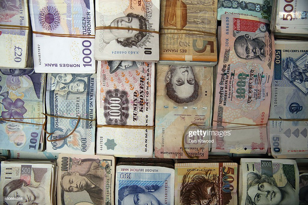 Currency is exchanged in the Qaysari Market on June 15 2014 in Erbil Iraq In Iraq's capital city of Baghdad and other towns and cities effected by...