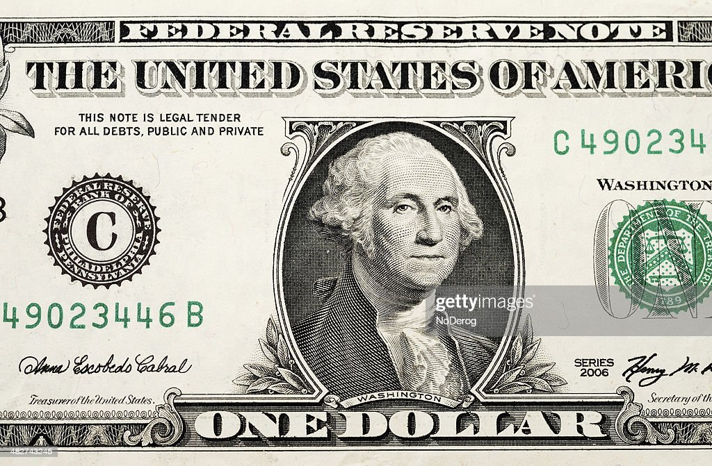 Partial one dollar bill