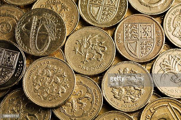 UK Currency: one pound coins