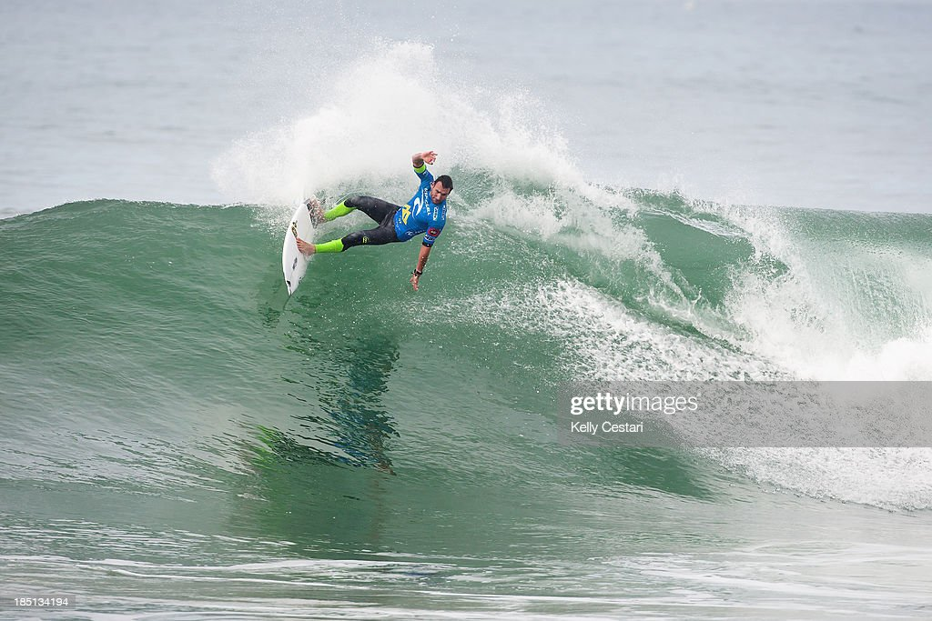 Current ASP World Champion <a gi-track='captionPersonalityLinkClicked' href=/galleries/search?phrase=Joel+Parkinson&family=editorial&specificpeople=234875 ng-click='$event.stopPropagation()'>Joel Parkinson</a> of Australia placed equal 3rd at the RipCurl Pro Portugal eliminating himself from the 2013 ASP World Title scenario on October 17, 2013 in Peniche, Portugal.