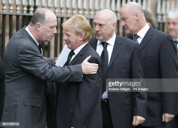 Current Celtic football club manager Gordon Strachan arrives at the funeral service of Tommy Burns at St Mary's Church Abercromby Street Glasgow