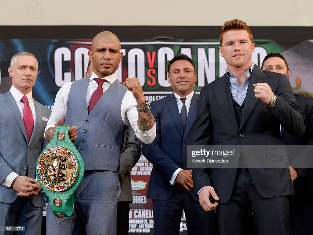 Miguel Cotto v Canelo Alvarez - Press Tour
