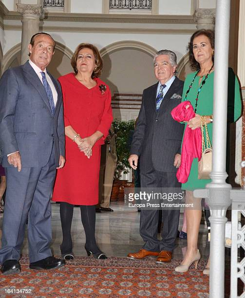 Curro Romero and Carmen Tello attends lunch at Isabel Cobo's home on March 17 2013 in Seville Spain