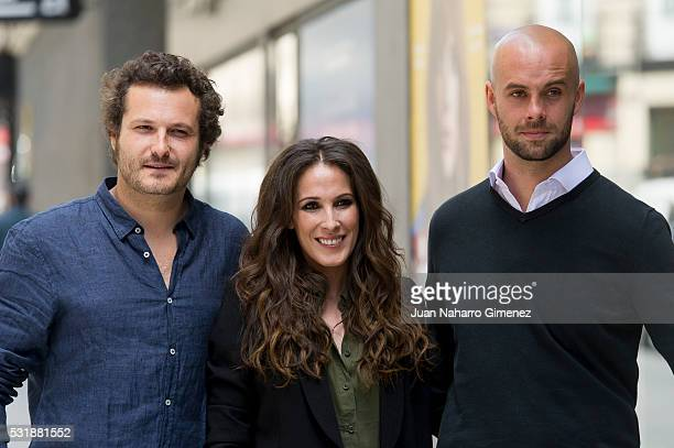 Curro Sanchez Varela Malu and Telmo Iragorri attend 'Malu Ni Un Paso Atras' photocall at Ocho y Medio store on May 17 2016 in Madrid Spain