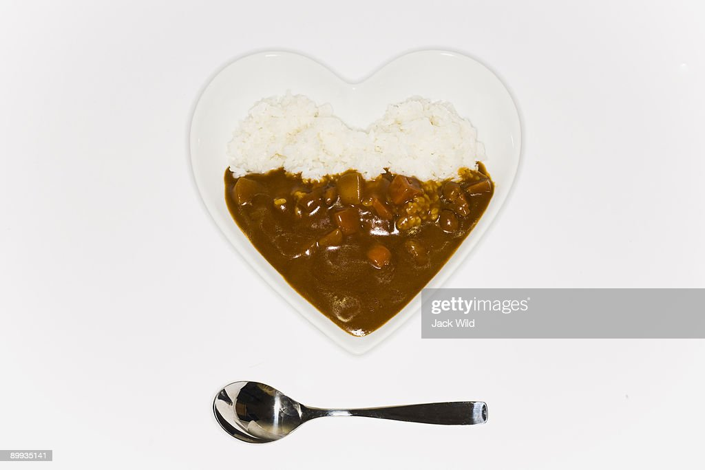 Curry and rice  : Stock Photo