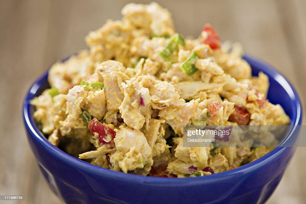 Curry Chicken Salad In A Bowl