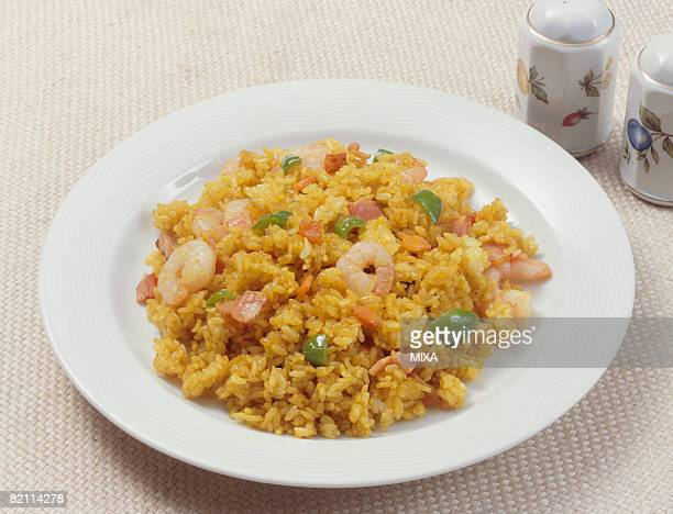 Curry flavored fried rice