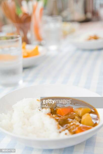 Curry on table
