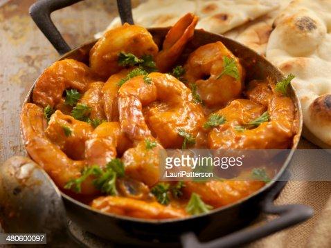 Curry Shrimp : Stock Photo
