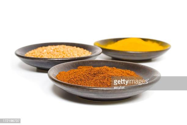 Curry spezie e peperoncino in polvere