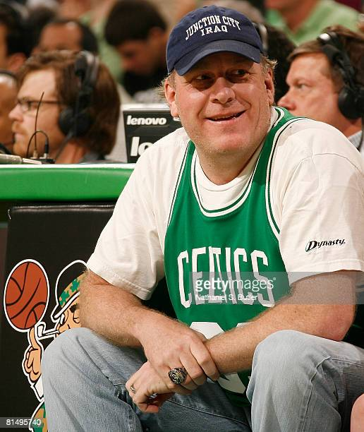 Curt Schilling of the Boston Red Sox attends Game Two of the 2008 NBA Finals between the Boston Celtics and the Los Angeles Lakers on June 8 2008 at...