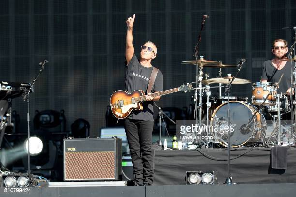 Curt Smith of Tears for Fears performs on stage at the Barclaycard Presents British Summer Time Festival in Hyde Park on July 8 2017 in London England