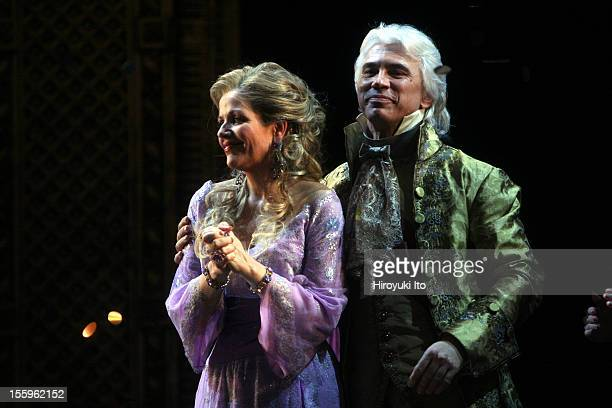 Curtain call at the 125th Anniversary Gala at the Metropolitan Opera House on Sunday night March 15 2009This imageRenee Fleming and Dmitri...