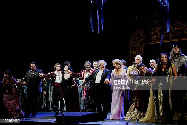 Curtain call at the 125th Anniversary Gala at the Metropolitan Opera House on Sunday night March 15 2009This imageFrom left Maija Kovalevska Joseph...