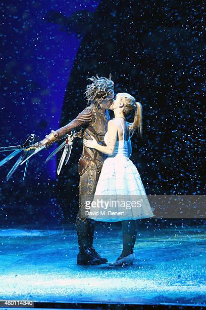 Curtain call at the Gala Performance of 'Edward Scissorhands' at Sadler's Wells Theatre on December 7 2014 in London England
