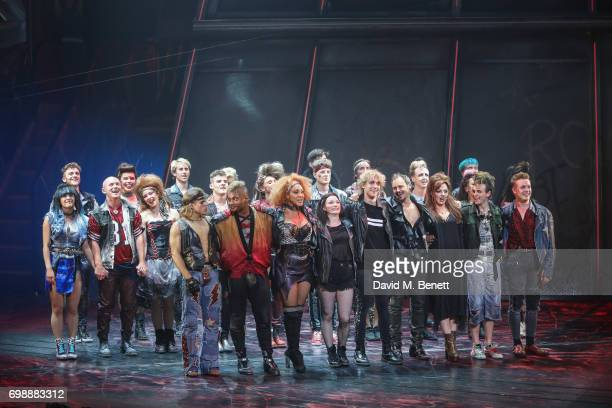 Curtain call during the press night performance of 'Bat Out Of Hell The Musical' at The London Coliseum on June 20 2017 in London England