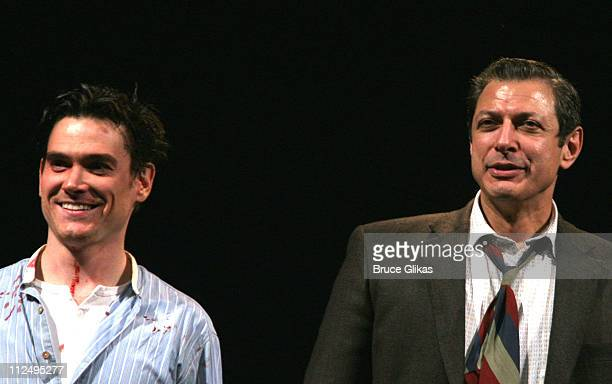Curtain Call with Billy Crudup and Jeff Goldblum during Opening Night of Martin McDonagh's 'The Pillowman' on Broadway Curtain Call and After Party...