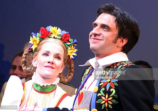 Curtain Call with Erin Dilly and Raul Esparza during 'Chitty Chitty Bang Bang' Broadway Opening Night Curtain Call at The Hilton Theater in New York...